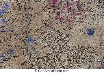 couro, floral, camurça, padrões