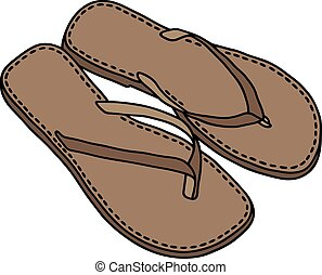 couro, sandálias