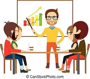 coworking, reunião, colaboração, pessoas