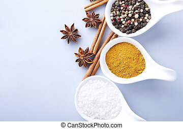 cozinhando spice, ingredientes