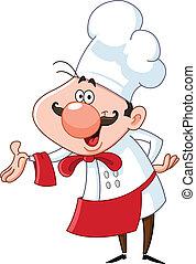 cozinheiro, amigável