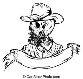 cranio, chapéu, boiadeiro