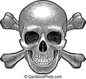 cranio, figura, crossbones