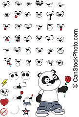 criança, set12, caricatura, panda