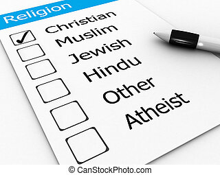 cristão, principal, judeu, -, muçulmano, hindu, religiões, outro, atheist, mundo