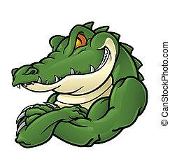 crocodilo, mascote