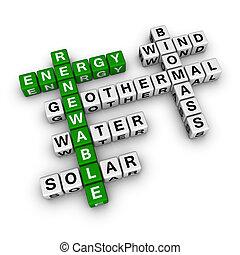 crossword, energia, renovável