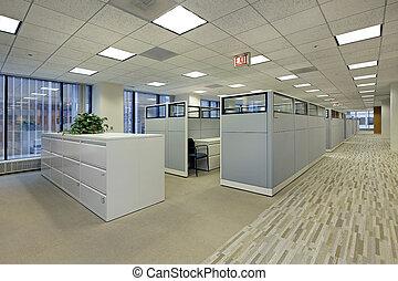 cubículos, escritório, área