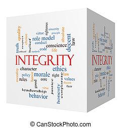 cubo, palavra, conceito, integridade, nuvem, 3d