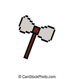 cudgel, ícone, estilo, pixelated, bits, 8