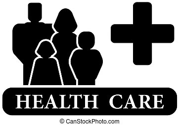 cuidado saúde, pretas, ícone