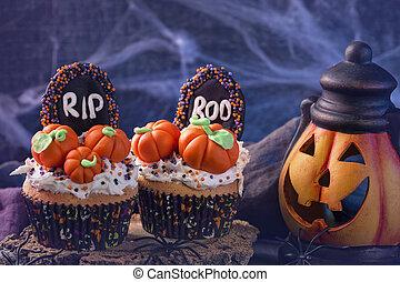 cupcakes, abóboras