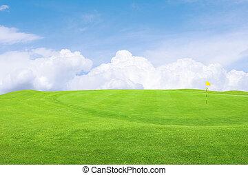 curso, golfe, bonito