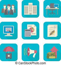 custos, ícones negócio