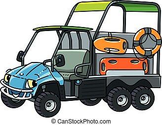 cute, car, eyes., resque, engraçado, veículo