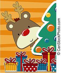 cute, cartão natal