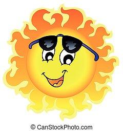 cute, engraçado, óculos de sol, sol