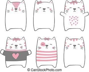 cute, gatos
