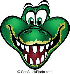 cute, mascote, crocodilo