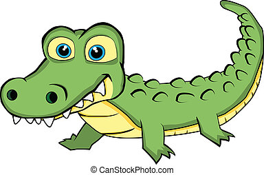 cute, olhar, crocodilo