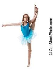 cute, pequeno, divisão, vertical, bailarina
