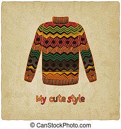 cute, suéter, antigas, fundo