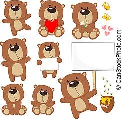 cute, urso, pelúcia