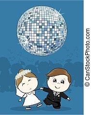 dança, casório, primeiro