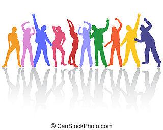 dançar, pessoas