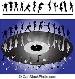 dançarinos, discoteca