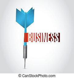 dardo, desenho, ilustração negócio, sinal