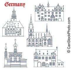 darmstadt, alemão, alemanha, marcos, arquitetura