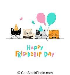 day., amizade, feliz