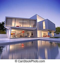 deconstruction, casa, cubo, b1