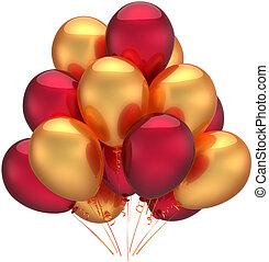 decoração, aniversário, balões, luxo