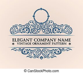decoração, emblema, elements., vindima, calligraphic, elegante, luxo, logo.