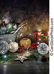decoração feriado, brilhar, estrela, natal