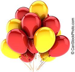 decoração, hélio, aniversário, balões