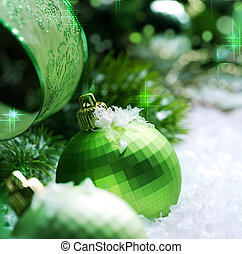 decoração, natal, neve