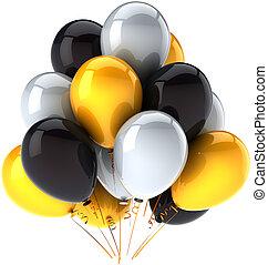 decoração, partido, aniversário, balões