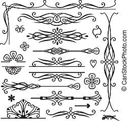 decoração, retro, página