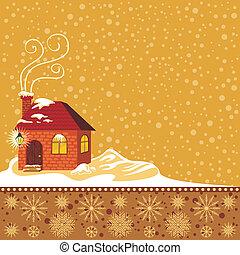 decorativo, inverno, fundo