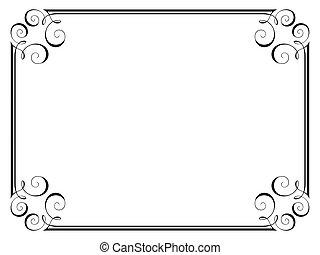 decorativo, ornamental, quadro, caligrafia