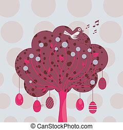 decorativo, páscoa, árvore
