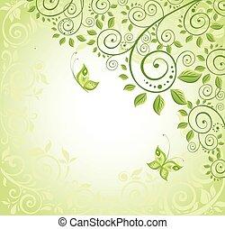 decorativo, primavera, fundo