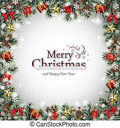 decorativo, quadro, ornamentos natal