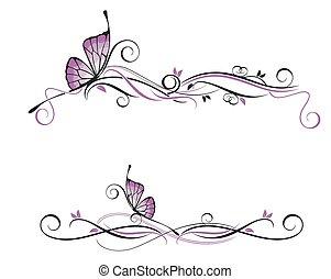 decorativo, vetorial, ornamento