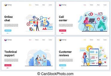 defensor, ajuda, profissional, cliente, vetorial, apoio, helpdesk, hotline, centro, ilustrações, consultor, serviço, chamada, conversa, online