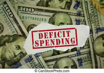 deficit, dinheiro pequenas despesas