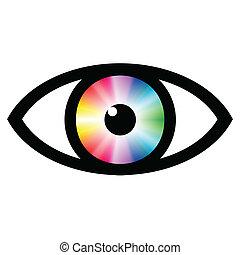 degradação de cor (color switch) (br), olho